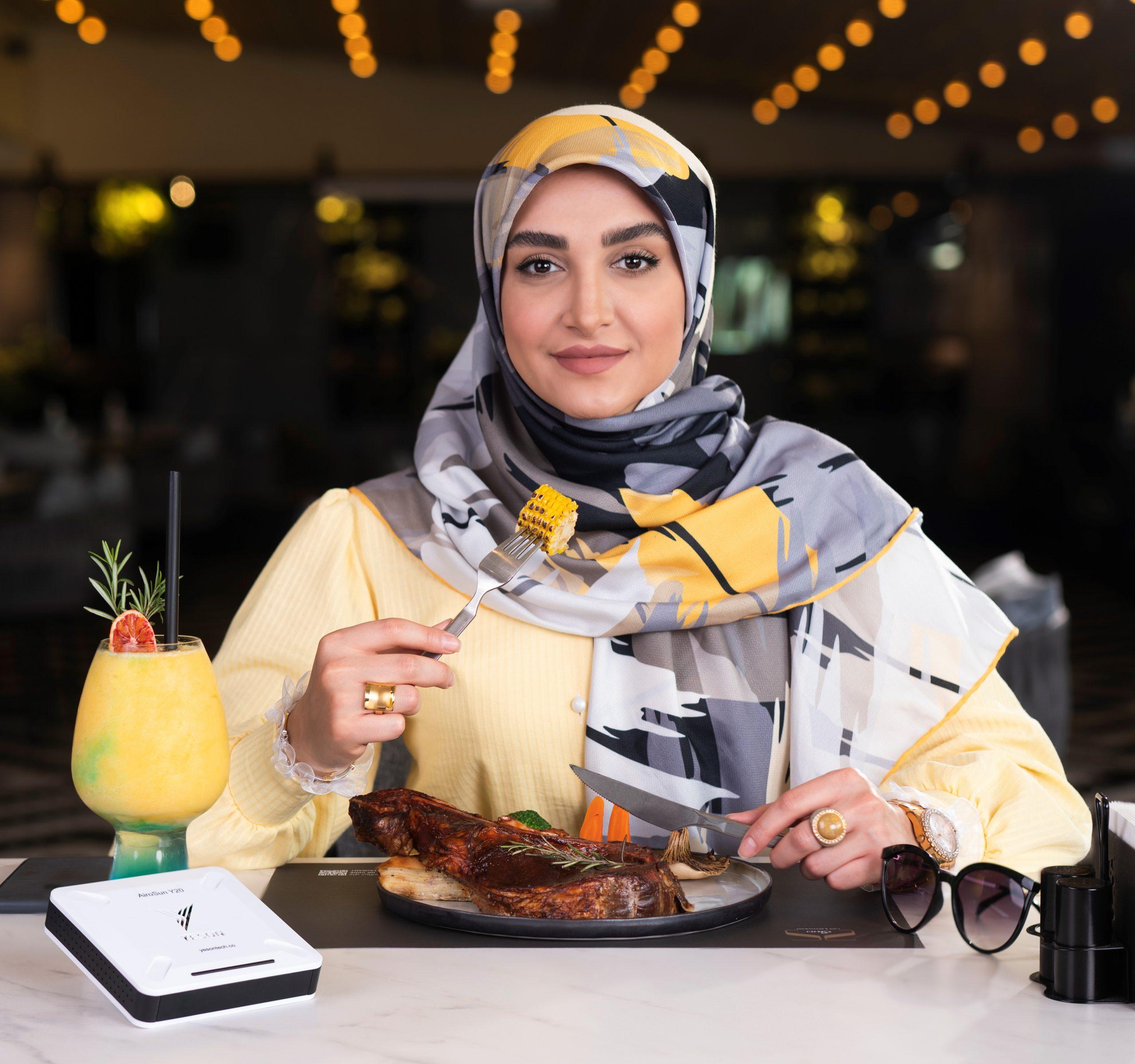 یسان در رستوران